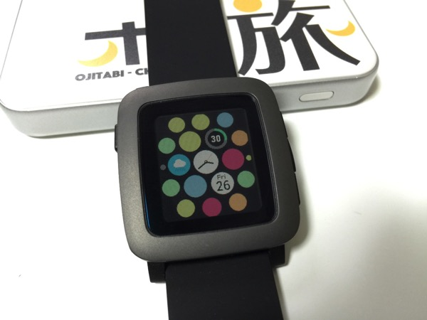 【Pebble Time】Apple Watch風ウォッチフェイス「@WATCH」
