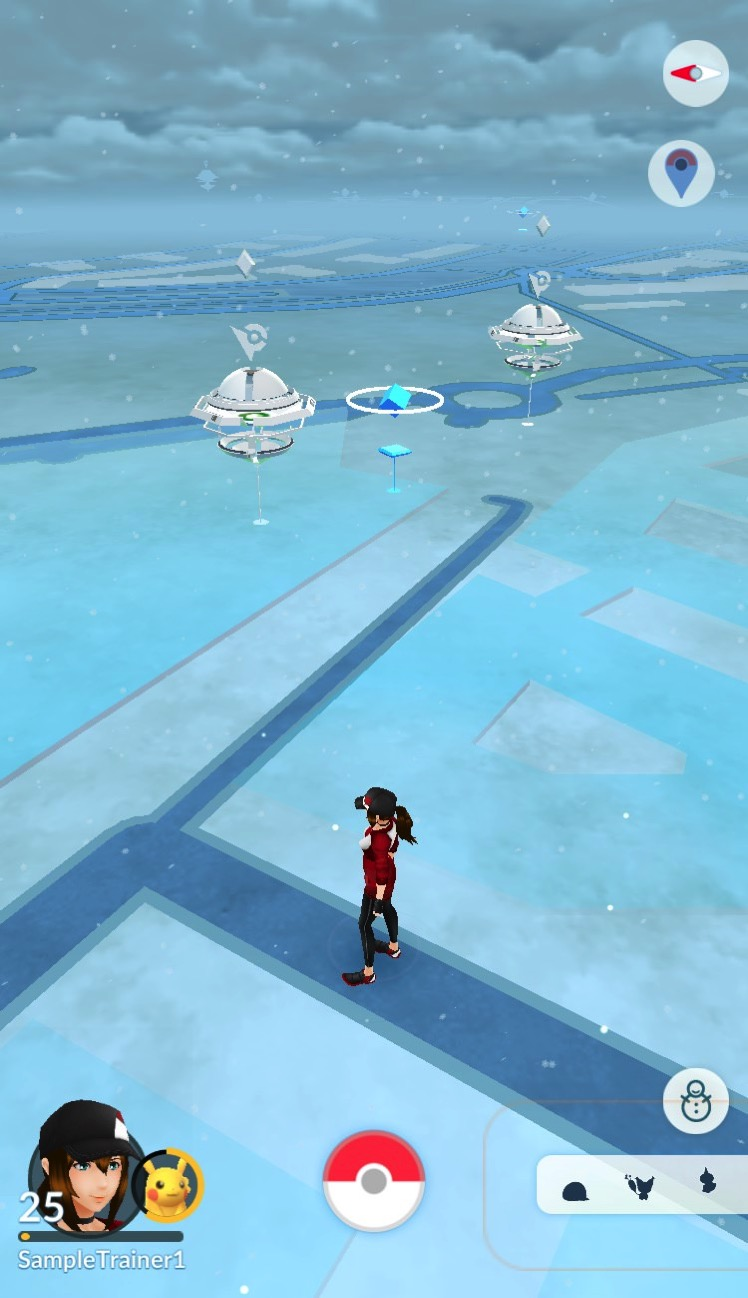 Pokemon update snow