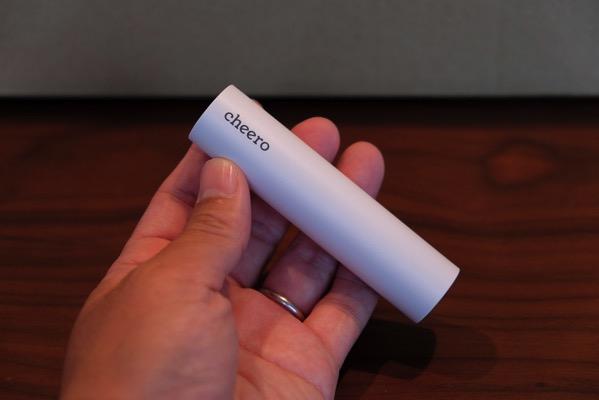 細くてスタイリッシュなモバイルバッテリー「cheero Power Plus 3 stick 3350mAh」iPhone 6をフル充電可能