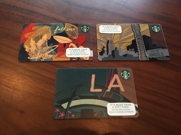 Starbucks card los 10 10 12 14 11