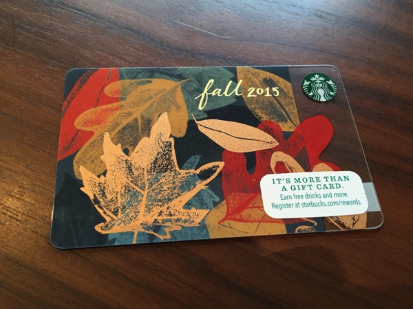 Starbucks card los 10 10 12 15 08