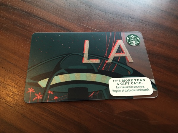 Starbucks card los 10 10 12 15 20