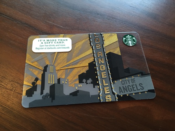 Starbucks card los 10 10 12 15 29