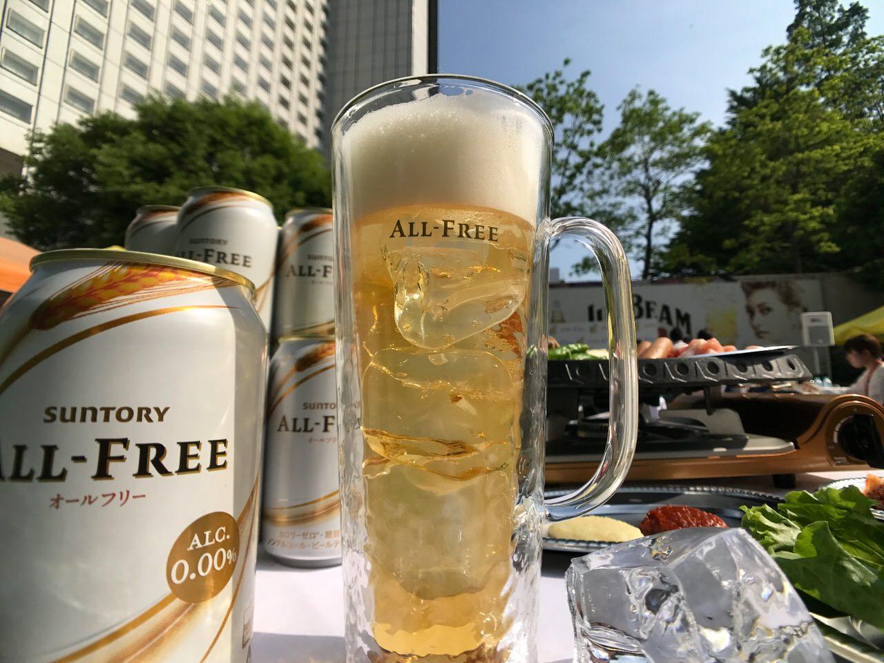 サントリー「オールフリー」夏に最適な飲み方を教えて貰った!それは氷イン!