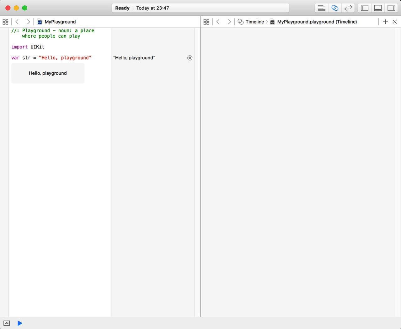 【Swift入門】XcodeでPlaygroundを試す(3)
