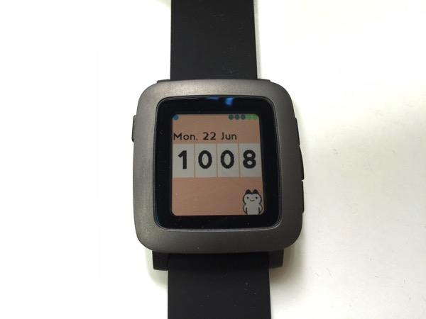 【Pebble】ウォッチフェイス「Time Cat」にゃんこが現れて時計をめくるのがかわいすぎるwww