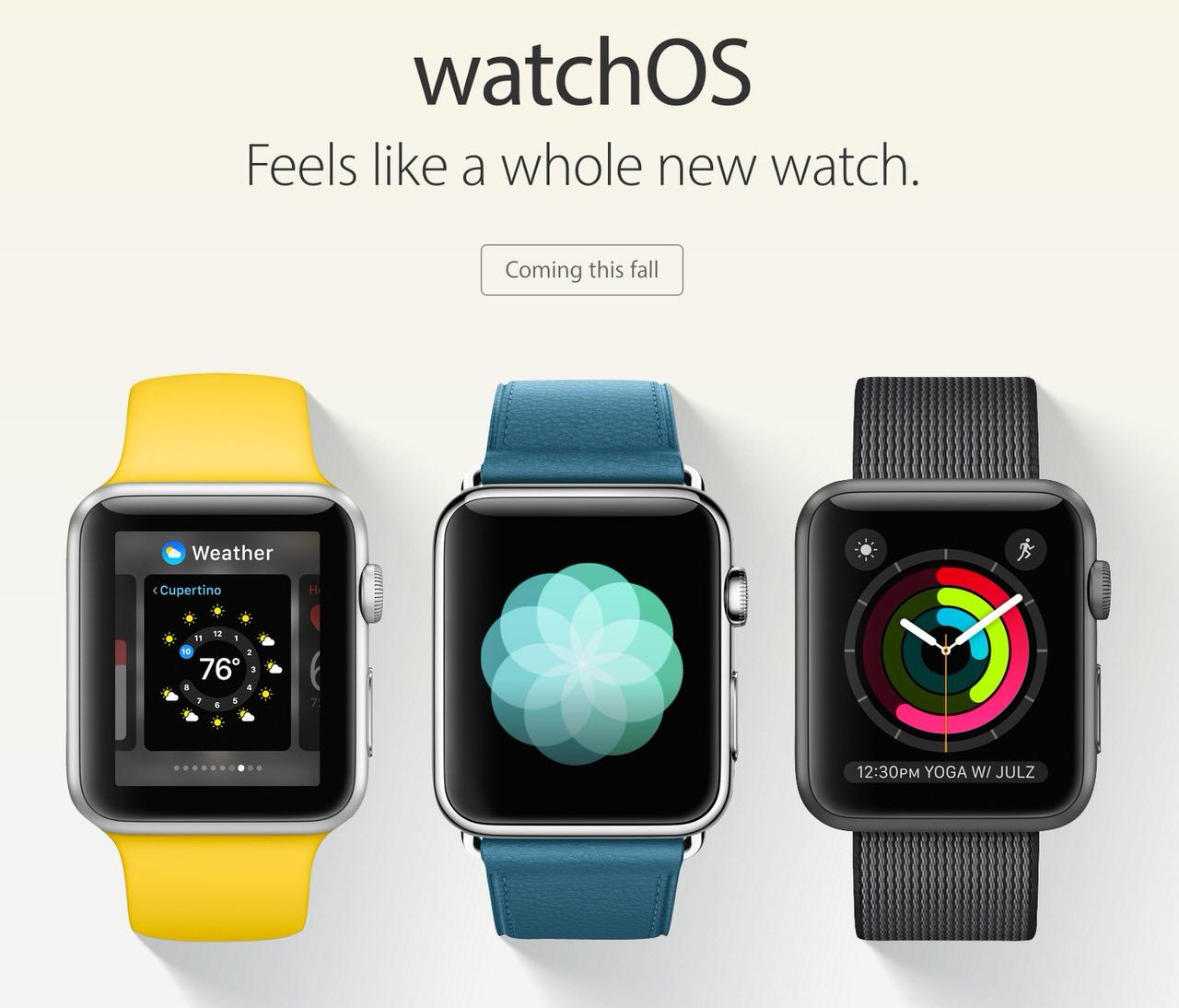 「watchOS 3」発表 〜2016年秋にリリース、アプリの起動時間が高速に
