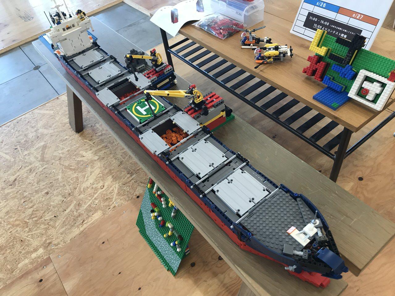 【PR】ワンファブ・フェスのメインスポンサー「常石グループ」のばら積み貨物船カムサマックスが巨大なレゴ作品になっていた
