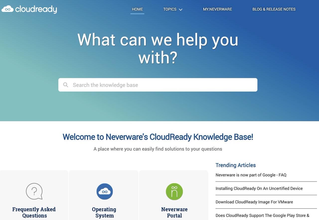Google、古いPCやMacにChrome OSをインストールするCloudReadyを開発するNeverwareを買収