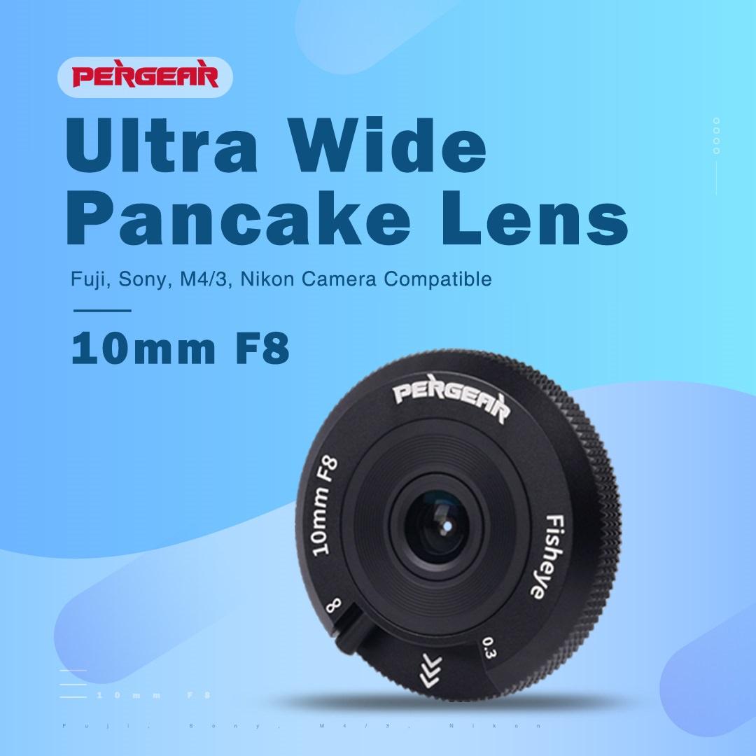 超薄型パンケーキの単焦点マニュアルフォーカス魚眼レンズ「Pergear 10mm F8」 01