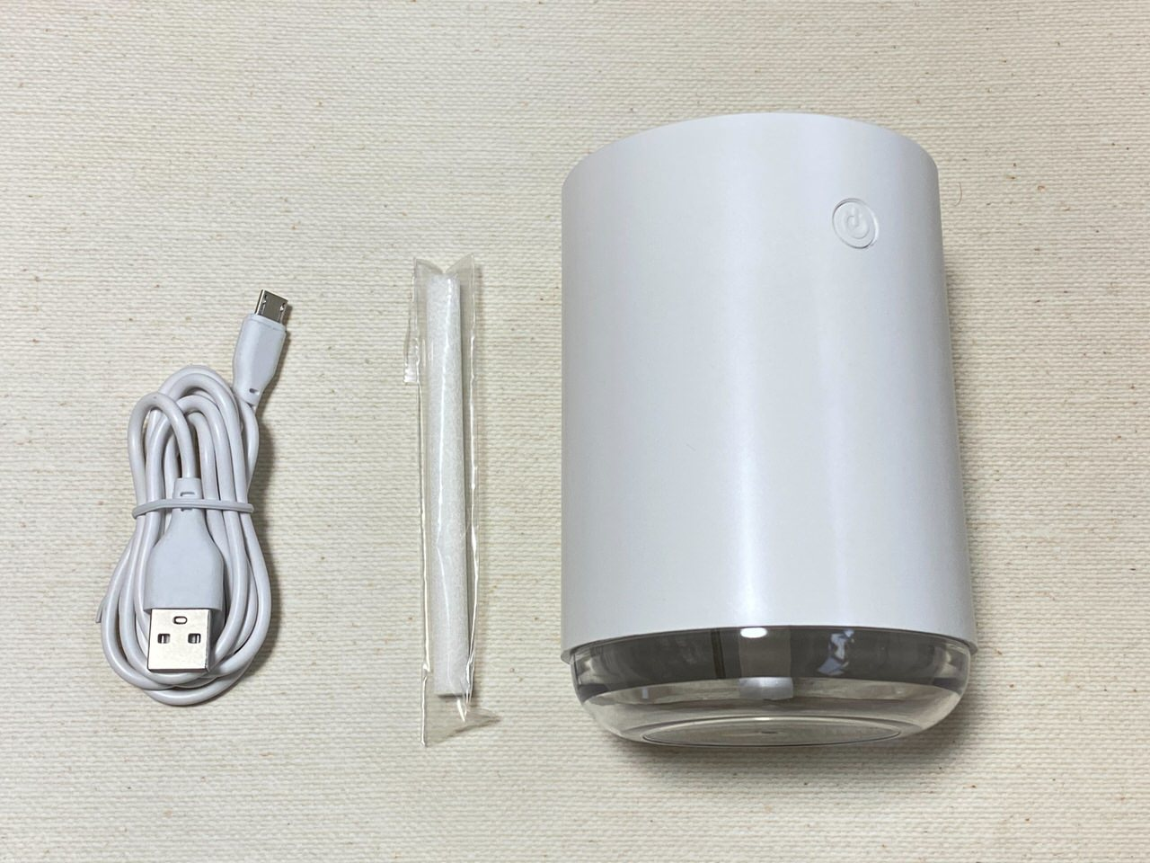USBで給電するダイソーの500円加湿器を試してみた(円柱型) 4