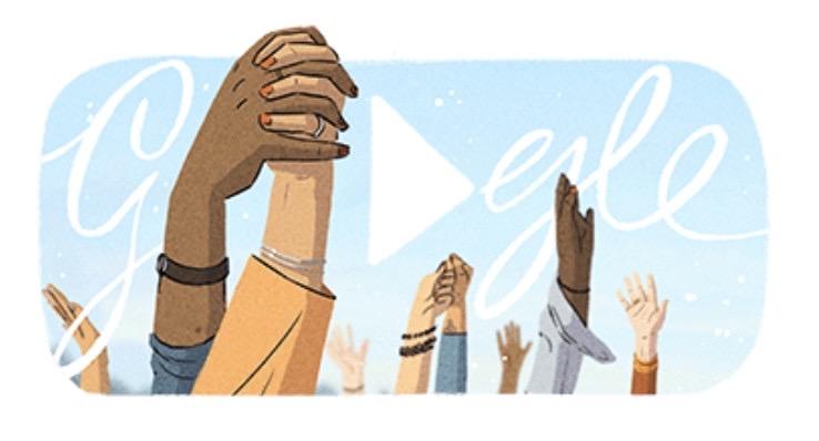 Googleロゴ「国際女性デー」に(2021)