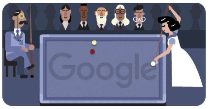 Googleロゴ「桂マサ子」に