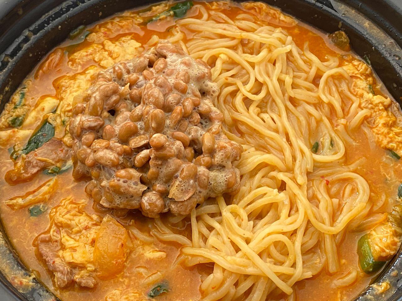 日高屋「チゲ味噌ラーメン」テイクアウト 14