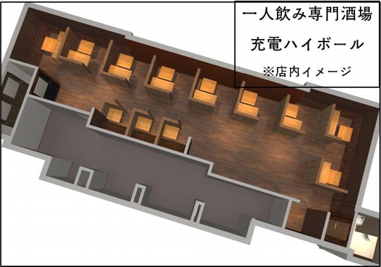 ソリストのための酒場「一人飲み専門酒場 充電ハイボール」北海道函館市にオープン1