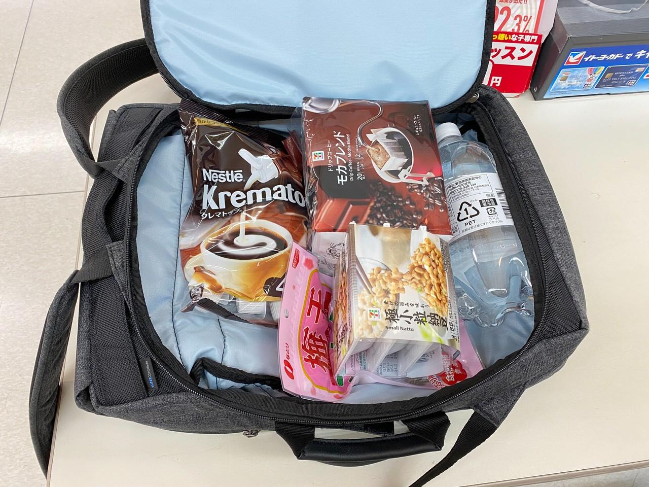 「かわるビジネスリュックmini」買い物バッグとしての普段遣いもけっこう良い 4