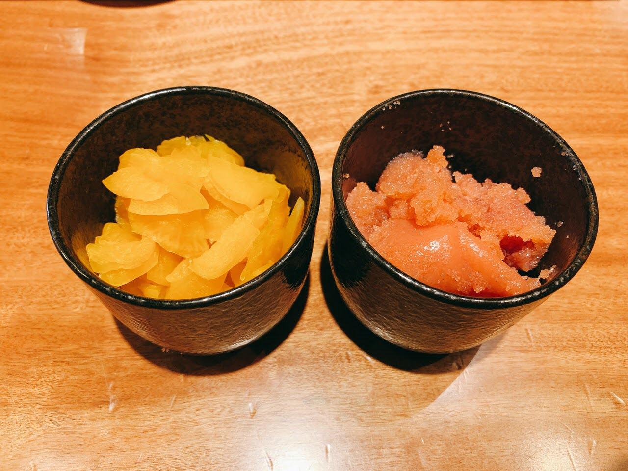 【大衆酒場きたぎん!】タラコ&漬物&ご飯が食べ放題の500円朝食「5種の小鉢の朝定食」 2