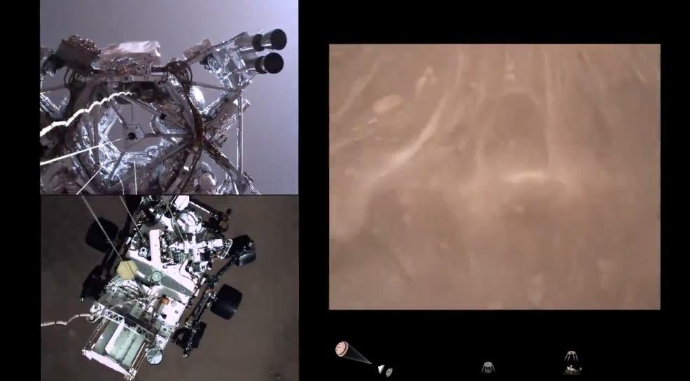 探査機「パーサヴィアランス」が火星着陸するときに見える景色に震える‥‥これが火星か‥‥!!