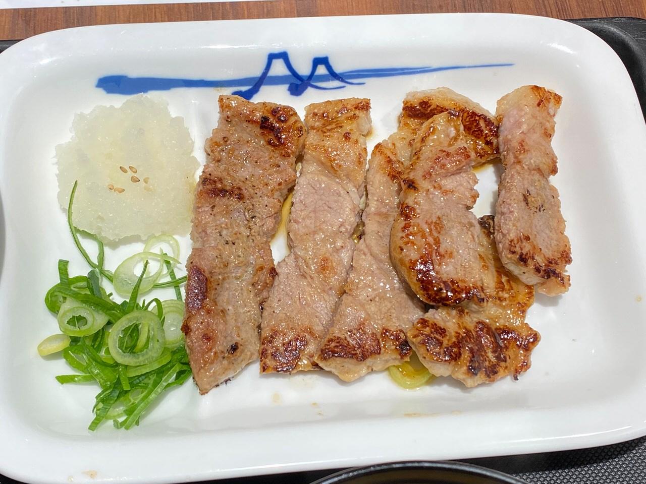 【松屋】リニューアルして厚切りになった「厚切り豚焼肉定食」 4