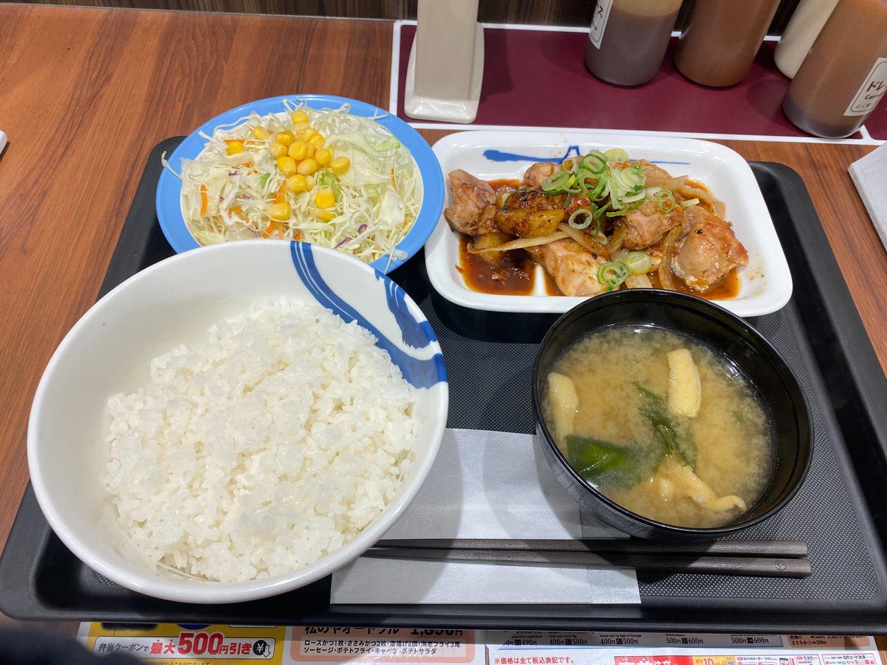 【松屋】ニンニクたっぷり大人のじゃがバター「鶏のじゃがバター炒め定食」 02