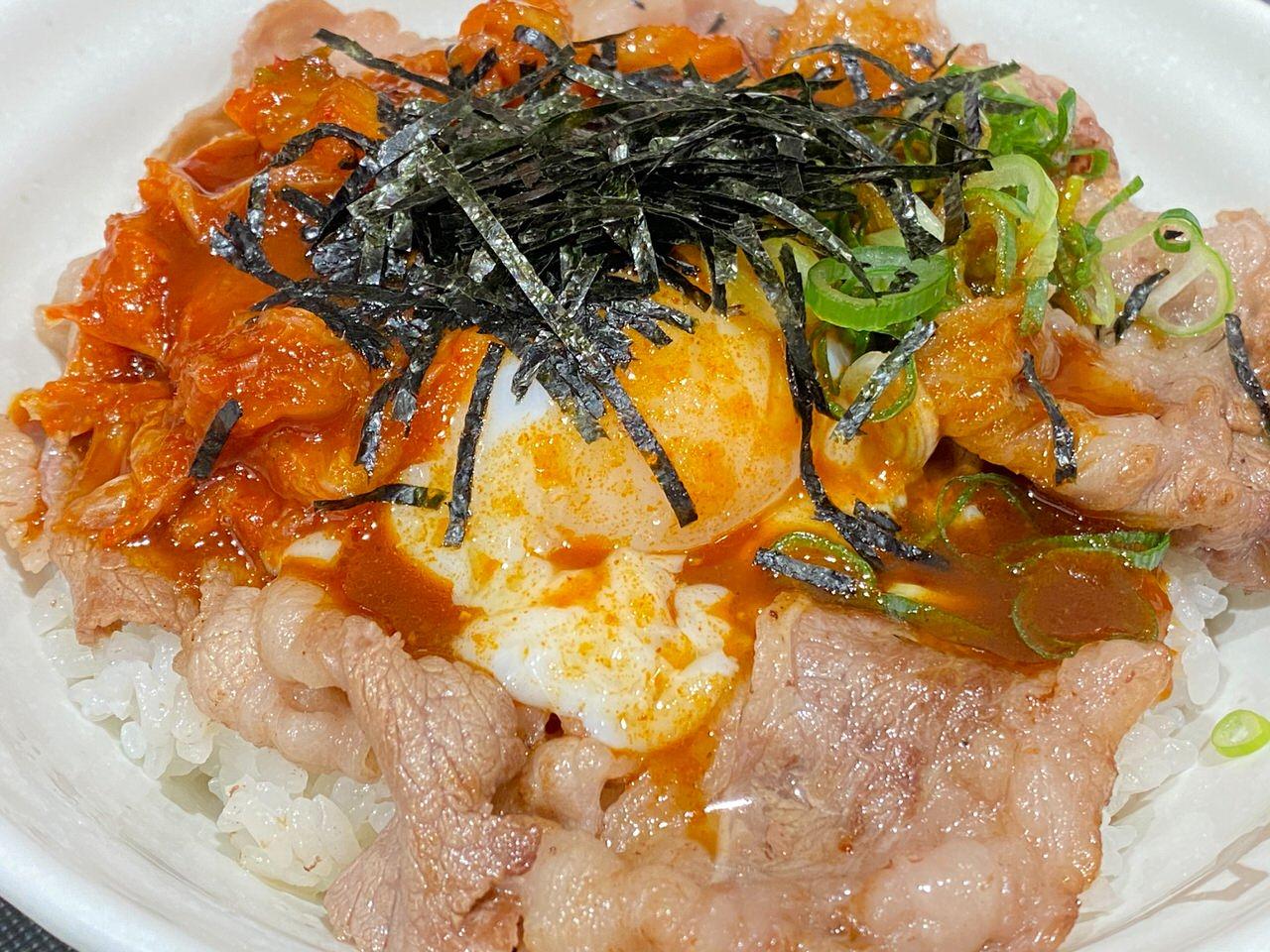 【松屋】定番メニューとなった「旨辛牛焼ビビン丼」を食べてみた 07
