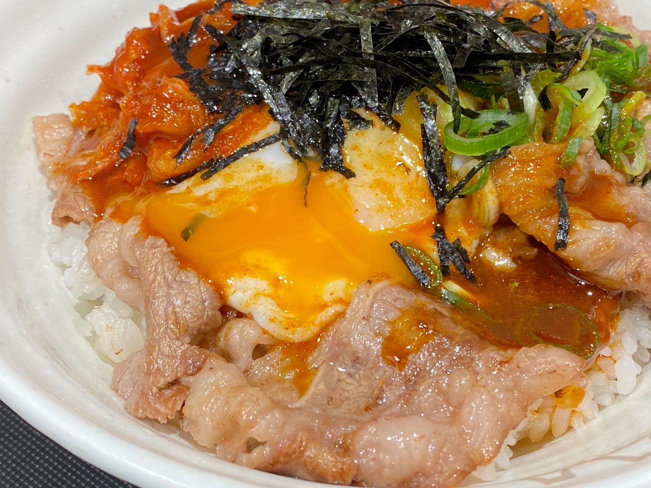 【松屋】定番メニューとなった「旨辛牛焼ビビン丼」を食べてみた 10