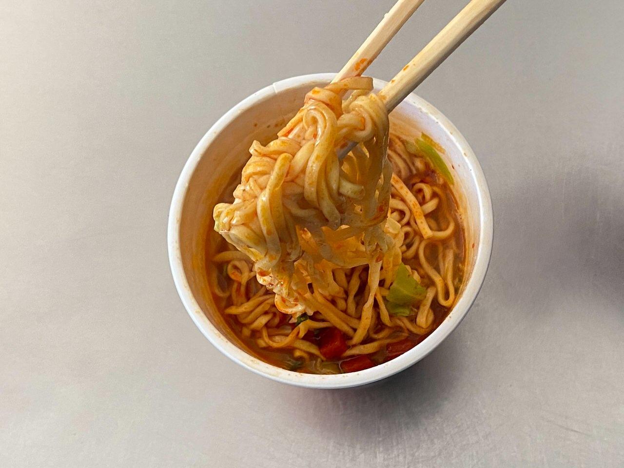 【中本】「蒙古トマタン」蒙古タンメンの辛旨味噌にトマトの酸味のスープが旨い 09