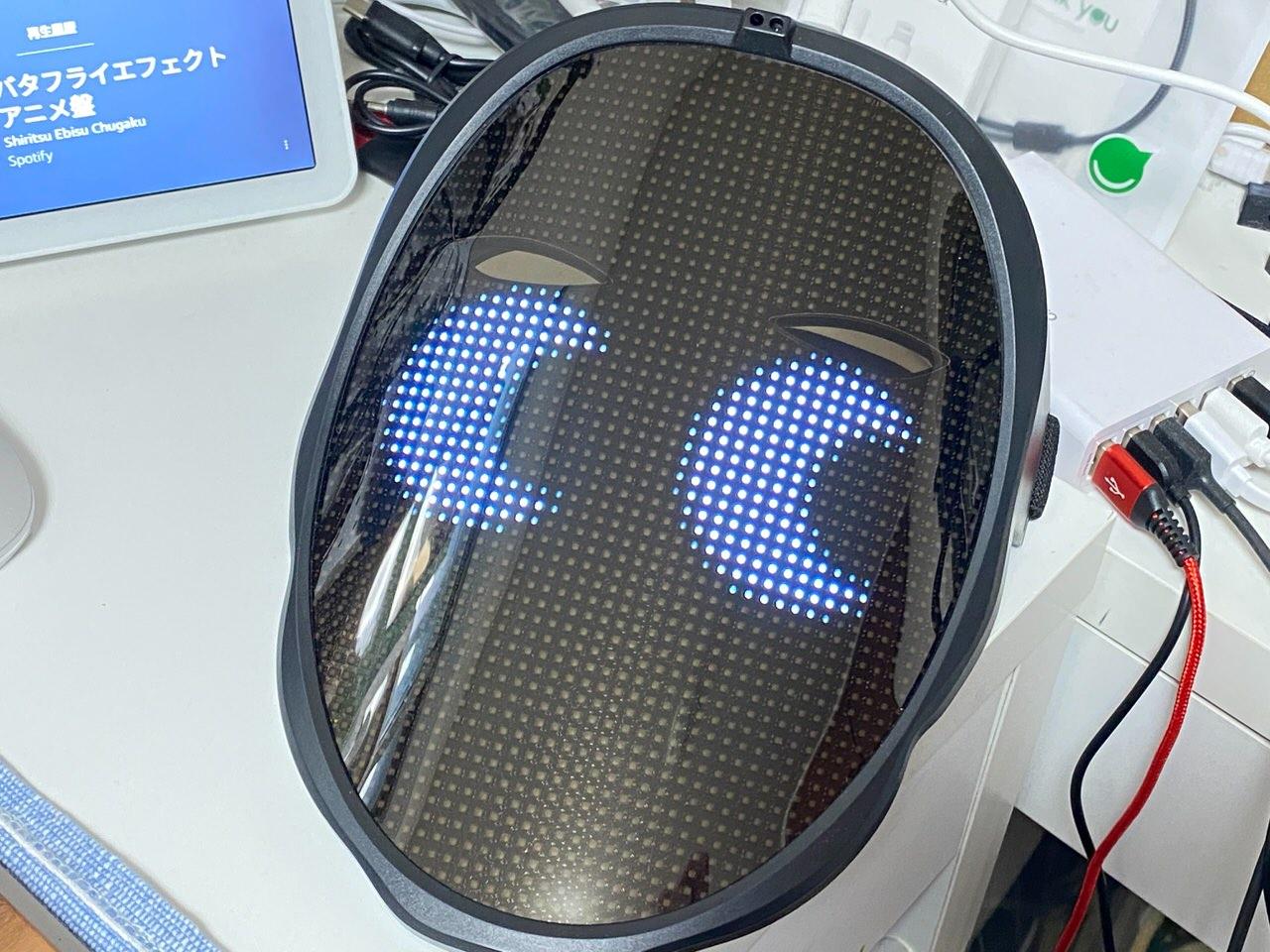 LEDディスプレイ搭載のフェイスマスク「Shining Mask(シャイニングマスク)」を買ってみた 10