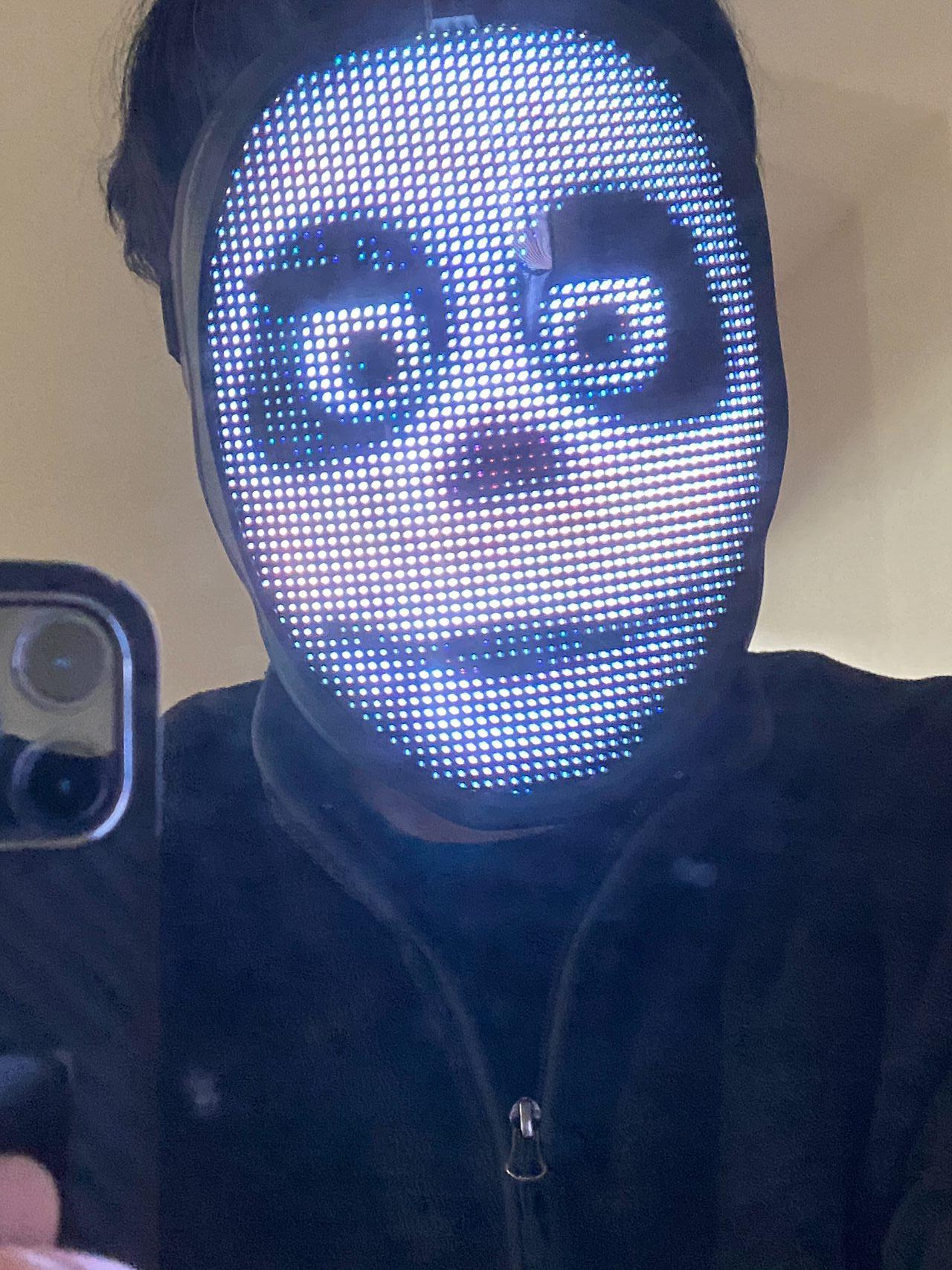 LEDディスプレイ搭載のフェイスマスク「Shining Mask(シャイニングマスク)」を買ってみた 11
