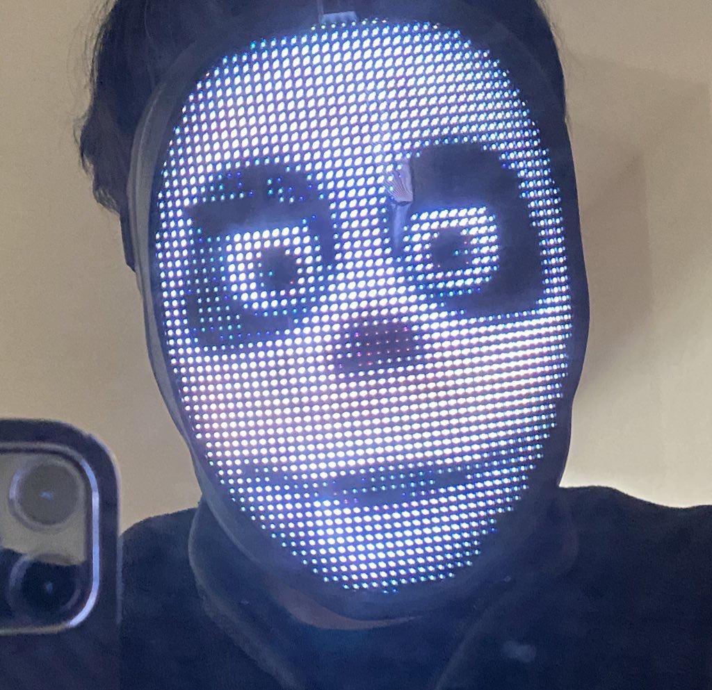 LEDディスプレイ搭載のフェイスマスク「Shining Mask(シャイニングマスク)」を買ってみた 12