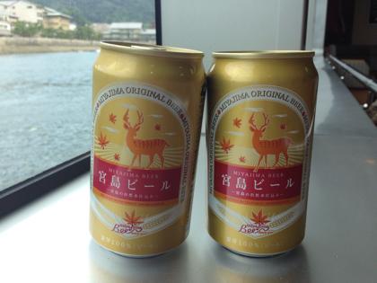 「宮島ビール(宮島)」広島は宮島で買える鹿がプリントされた缶ビール #dw_hiroshima