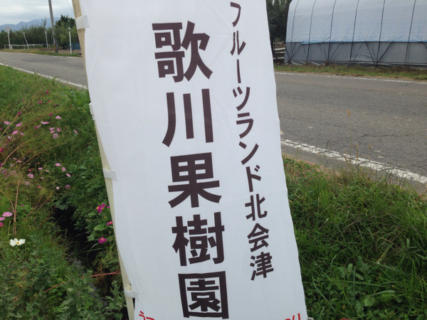 歌川果樹園でリンゴ「秋映」食す!福島県はリンゴの生産量が多いよ!(会津若松)