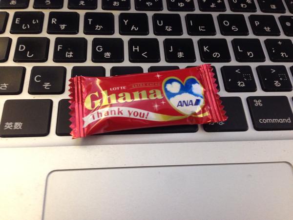 バレンタインデーにANAに乗ったらチョコを貰いました!
