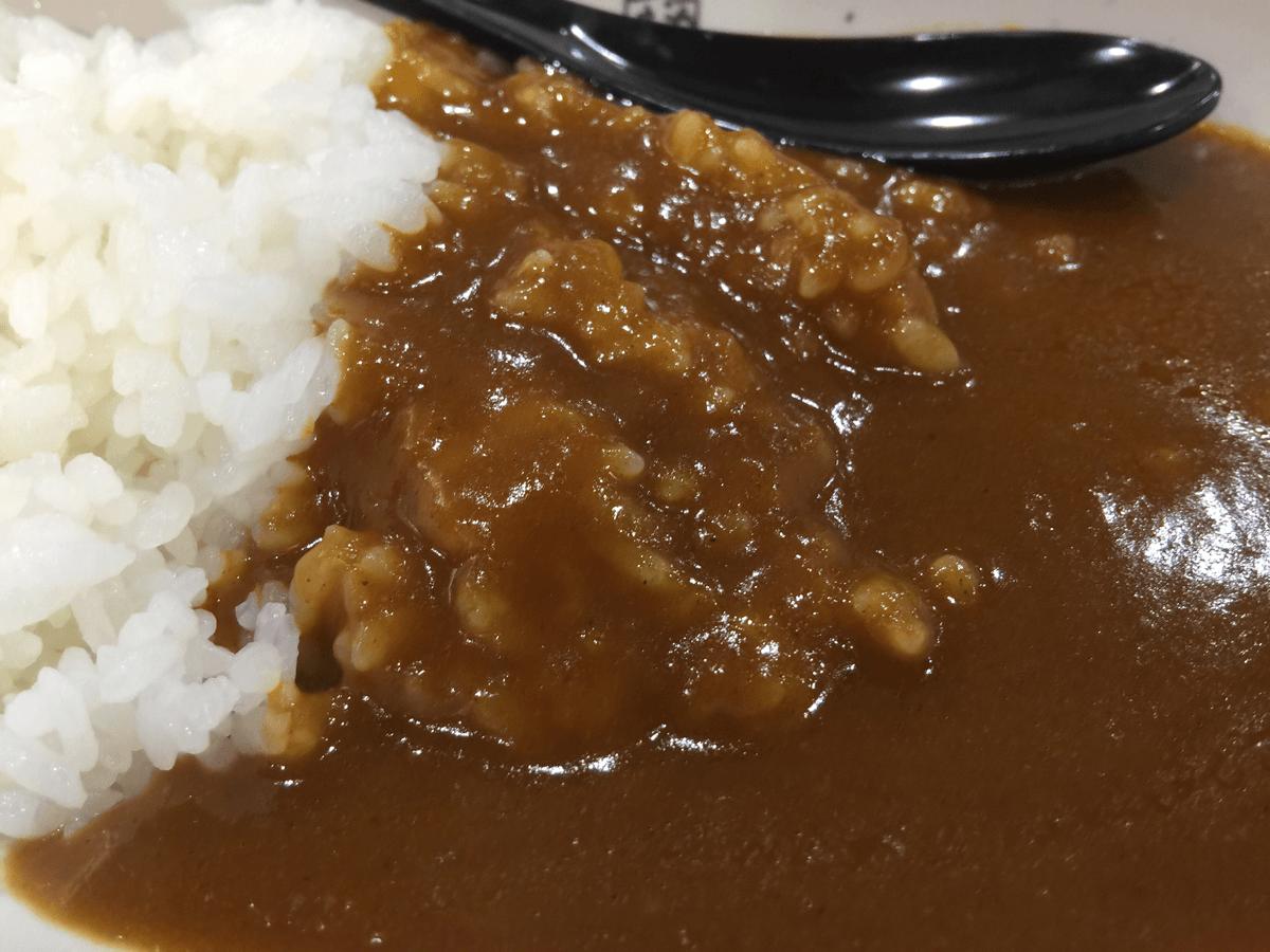 くら寿司で「シャリカレー」を食べてみた → 辛いカレーに甘い酢飯がマッチするのね!不思議な味わい