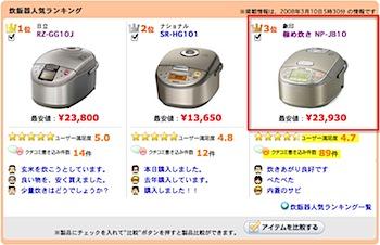 象印の炊飯器「極め炊き NP-JB10」購入