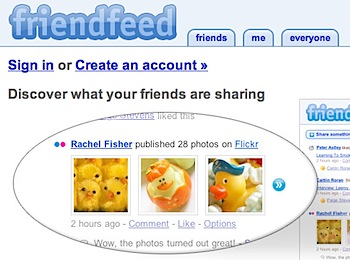 RSSフィードを手軽に統合して共有する「FriendFeed」