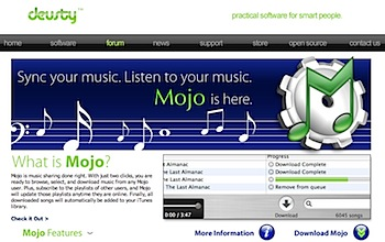 ネット越しにiTunesライブラリを共有する「Mojo」