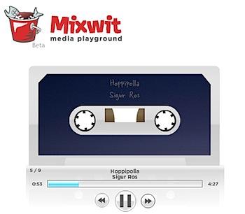 音楽を編集してカセットテープ的なブログパーツを作る「Mixwit」