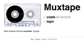 超シンプルなカセットテープ的音楽共有サイト「Muxtape」