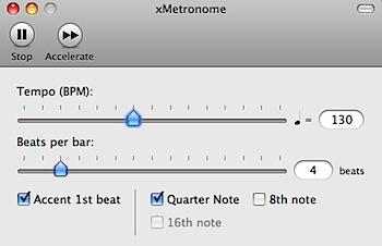 Macをメトロノームにする「xMetronome」