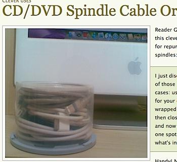 CD/DVDケースをケーブル収納用として再利用