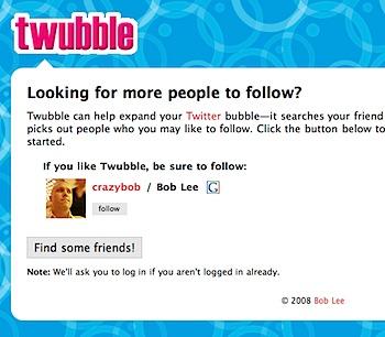 Twitterで誰をFollowすべきか教えてくれる「twubble」