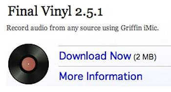 Macにステレオの音声を取り込むソフト「Final Vinyl」