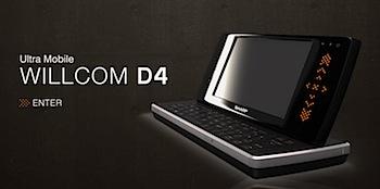 ウィルコム「WILLCOM D4」発表