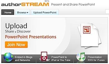 PowerPointを共有したり動画に変換する「authorSTREAM」