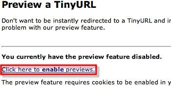 「TinyURL」のリンク先をプレビューする方法