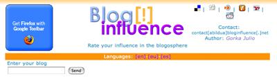 ブログの影響力を測定する「Blog[!]influence」