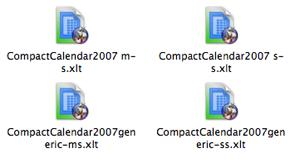 Compact Calendar 20072