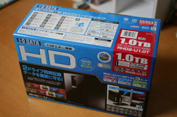 I-O DATAの1TB RAIDハードディスク「RHD2-U1.0T」が届く