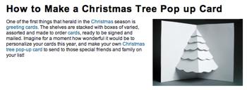 クリスマスツリーのポップアップカードの作り方